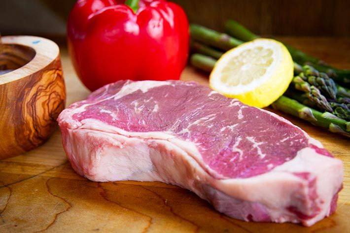 Grass fed NY Strip Steak is on of the most popular steak cuts.  Consider topping your NY Strip Steak with compound butter. Compound butter adds a gourmet taste without masking your grass fed steak flavor.  Click here for the recipe:  http://www.americangrassfedbeef.com/grass-fed-ny-strip-steak.asp?open=recipe