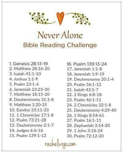 Never alone reading plan