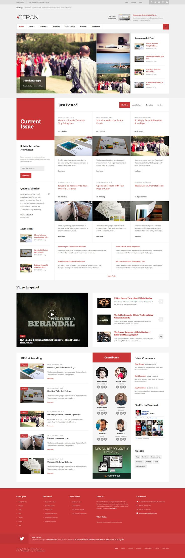 Cepon - News and Magazine WordPress Themes || Weekly web design Inspiration for everyone! Introducing Moire Studios a thriving website and graphic design studio. Feel Free to Follow us @moirestudiosjkt to see more remarkable pins like this. Or visit our website www.moirestudiosjkt.com to learn more about us. #WebDesign #WebsiteInspiration #WebDesignInspiration ||