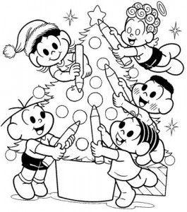Turma Da Monica Para Colorir4 Desenhos Para Colorir Natal