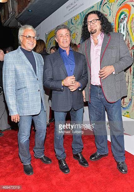 Singer Tom Jones and actors Sylvester Stallone and Penn Jillette attend the Mending Kids International's 'Rock Roll AllStars' Fundraising Event on...
