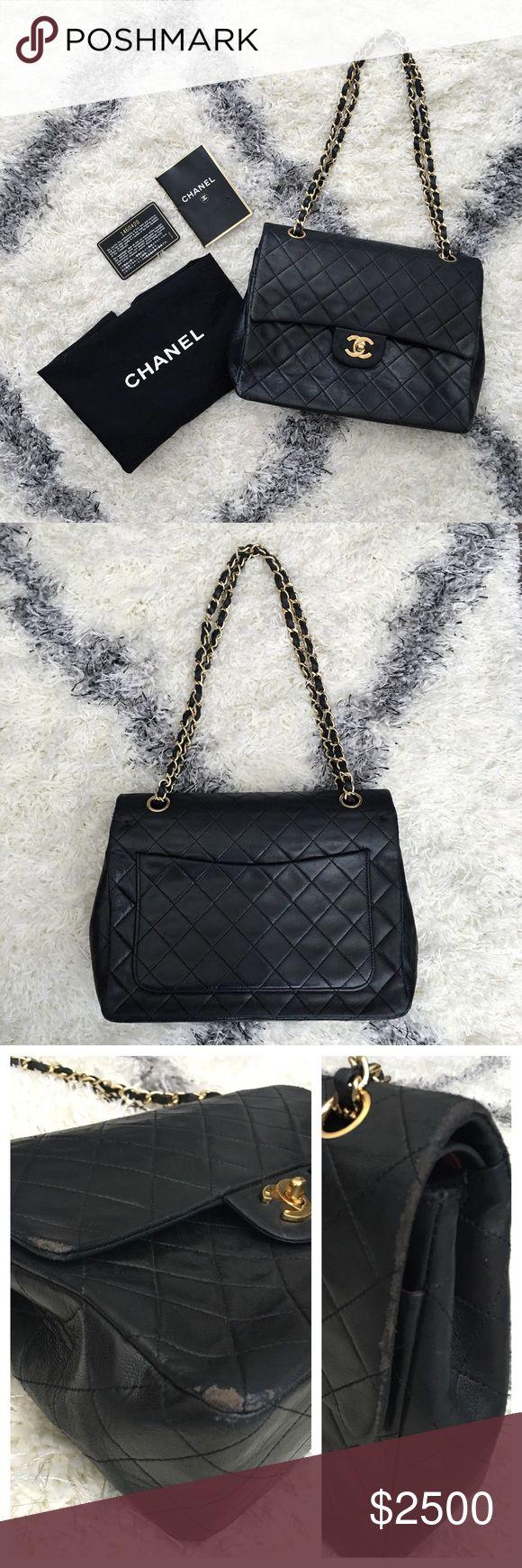Chanel handbag superb vintage chanel bag vintage leather - Authentic Vintage Chanel Double Flap Bag