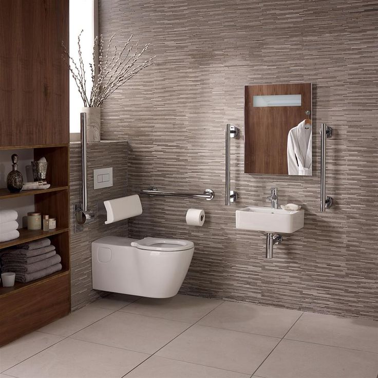 Concept Freedom Ensuite Bathroom Pack with 40cm Basin & Extended Wall Hung WC | Doc M Bathrooms | Doc M | Bluebook | IdealSpec