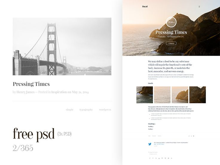 Free Web Design Template (2/365) by Marcin Czaja
