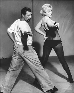 Marilyn with her choreographer Jack Cole