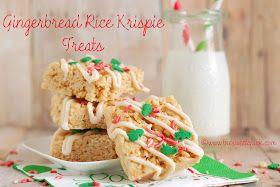 The Sweet Chick: Gingerbread Rice Krispie Treats