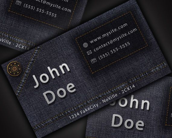 Jeans Style Business Card www.pinterest.com...