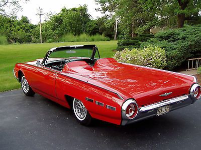 Details about 1962 Ford Thunderbird Sports Roadster