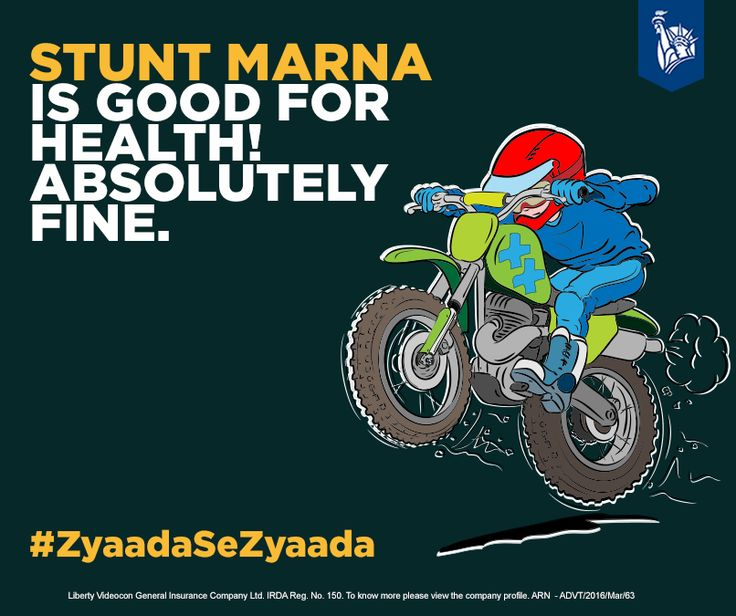 Go for stunts & let yourself meet with an accident. #ZyaadaSeZyaada bike damage & broken bones.
