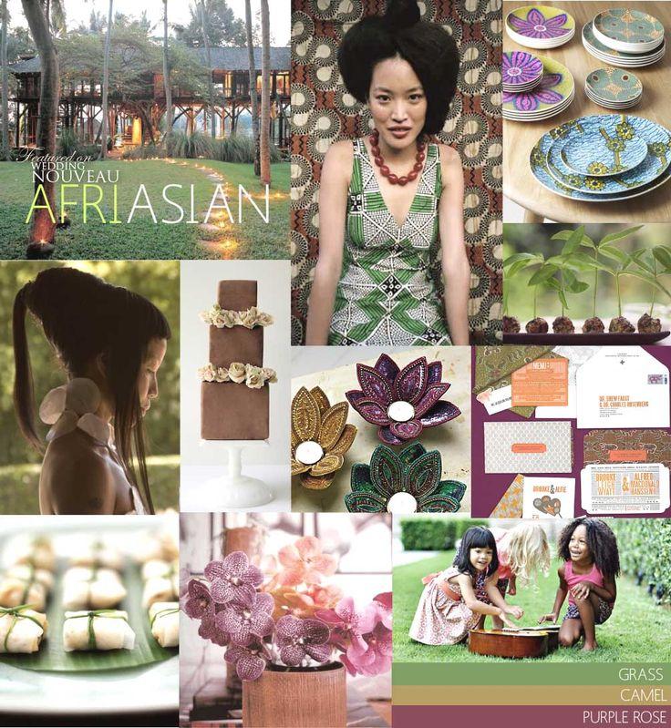 African/ Asian fusion dream palette inspiration board from weddingnouveau.com