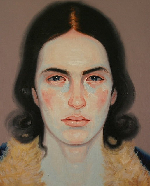Painting by KRIS KNIGHT (Love the use of blue and pinks in the skin tone)