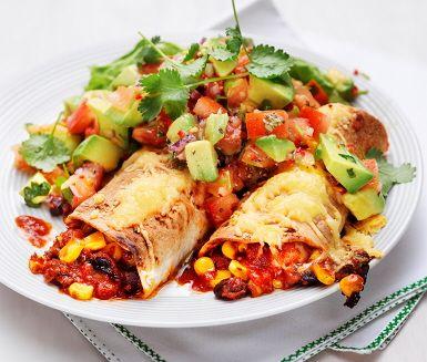 Recept: Enchilada med tomatsalsa