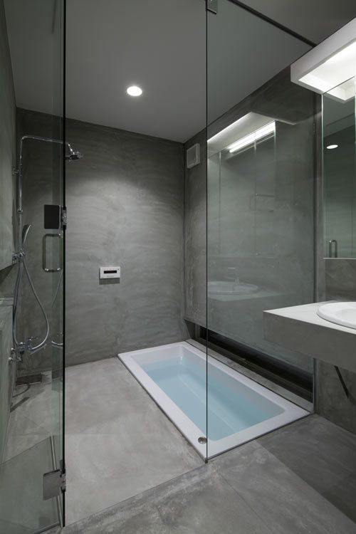 Tina De Baño Japonesa:Small Grey Bathroom Ideas