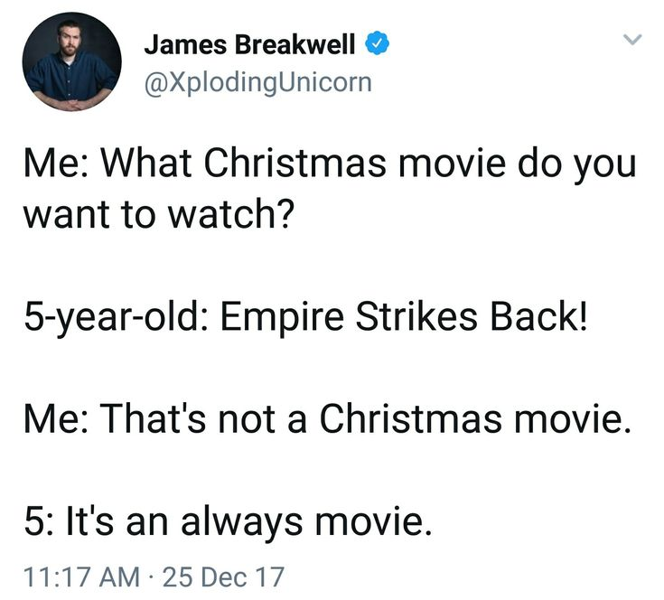 "Some movies are ""always"" movies."