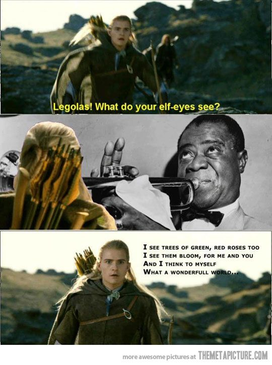 AAAHAHAHAHAHAH! Epic is the word we need here for this. Epic. #fandom #lotr #legolas