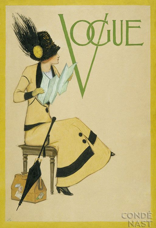 Vogue, date unknown: Vintage Covers, Vintagevogue, Posters Prints, Vogue Magazines, Jessie Gillespie, Vogue Illustrations, Vintage Vogue Covers, Vintage Magazines, Magazines Covers
