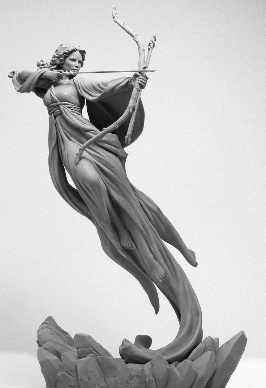 Sculpture - serafina by mark newman