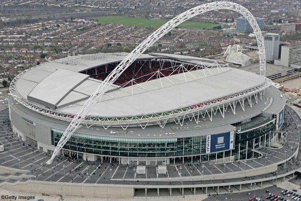 The New Wembley Stadium. The home of English Football.