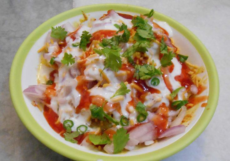 Recipe For Healthier Version Of Traditional Indian Street Food - Aloo Tikki Chaat