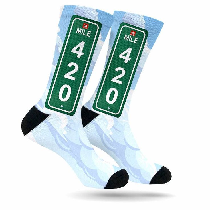 Mile 420 Colorado Weed Socks https://shop.stonerdays.com/collections/weed-socks