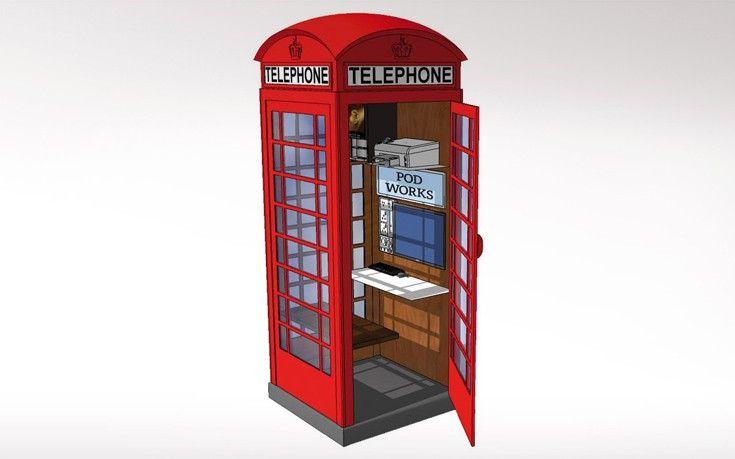 Οι βρετανικοί κόκκινοι τηλεφωνικοί θάλαμοι γίνονται γραφεία www.sta.cr/2uIt8