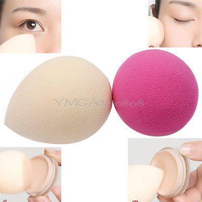 2Pcs Makeup Sponge Blender Foundation Puff Flawless Powder Smooth Beauty Pro New