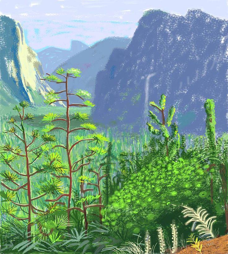 Yosemite by David Hockney on iPad