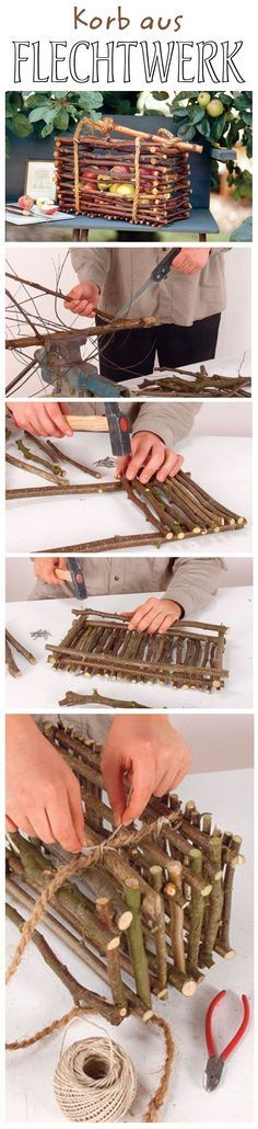 Ob für den Garten oder die Wohnung: Der selbst gemachte Korb aus Weidenzweigen ist eine schicke Dekoration, die man ganz leicht selbst machen kann. In unserem DIY zeigen wir, wie man den Flechtwerk-Korb selbst basteln kann.
