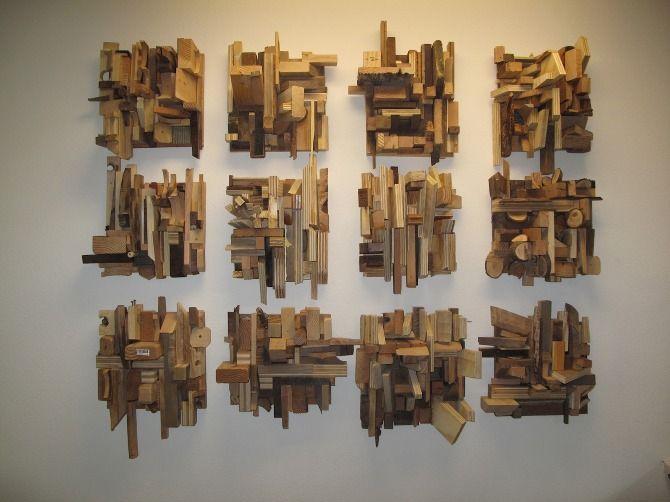 Wood Scrap Collages Jason Lee Starin Wood Mosaics Art