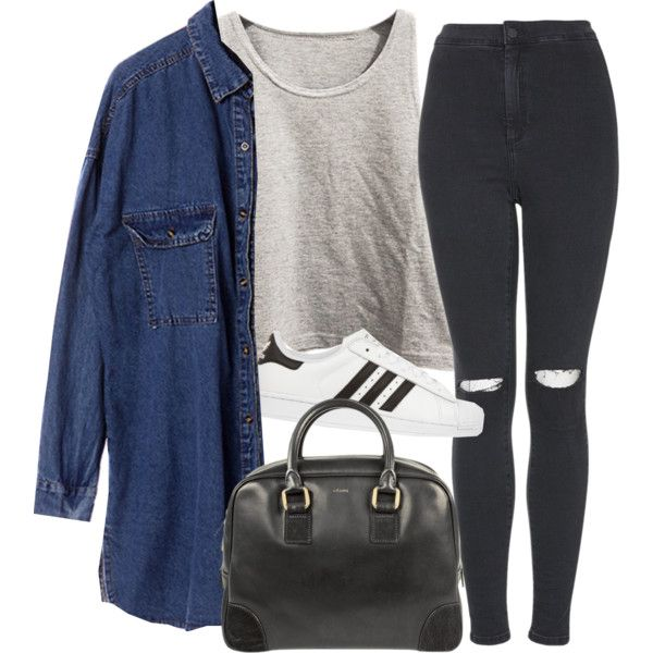 love yourself by rocroyalzboo on Polyvore featuring Chicnova Fashion, Topshop, adidas Originals and CÉLINE
