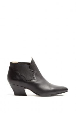 Black Matte Finish Alma Boots by Acne