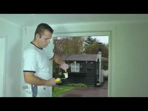 Muren schilderen zonder gebruik van afplak tape!