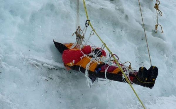 Sadly removing a Mt.  Everest Victim-image only