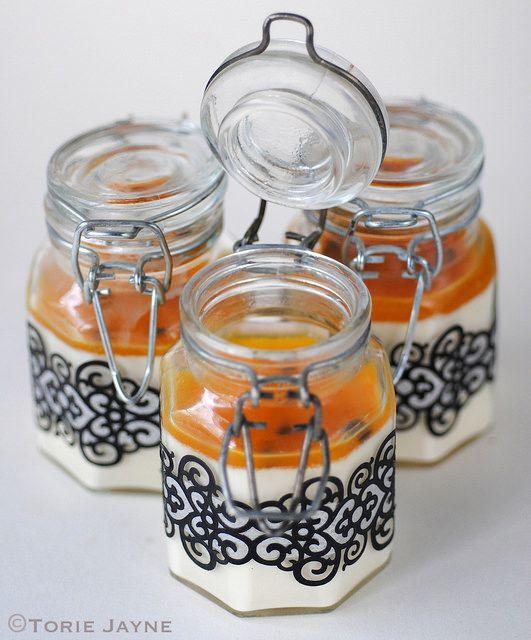 Passion fruit panna cotta recipe by toriejayne, via Flickr