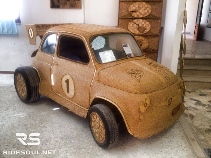 The legendary Fiat 500 made of wheat seeds! #motorcycle #tour #italy
