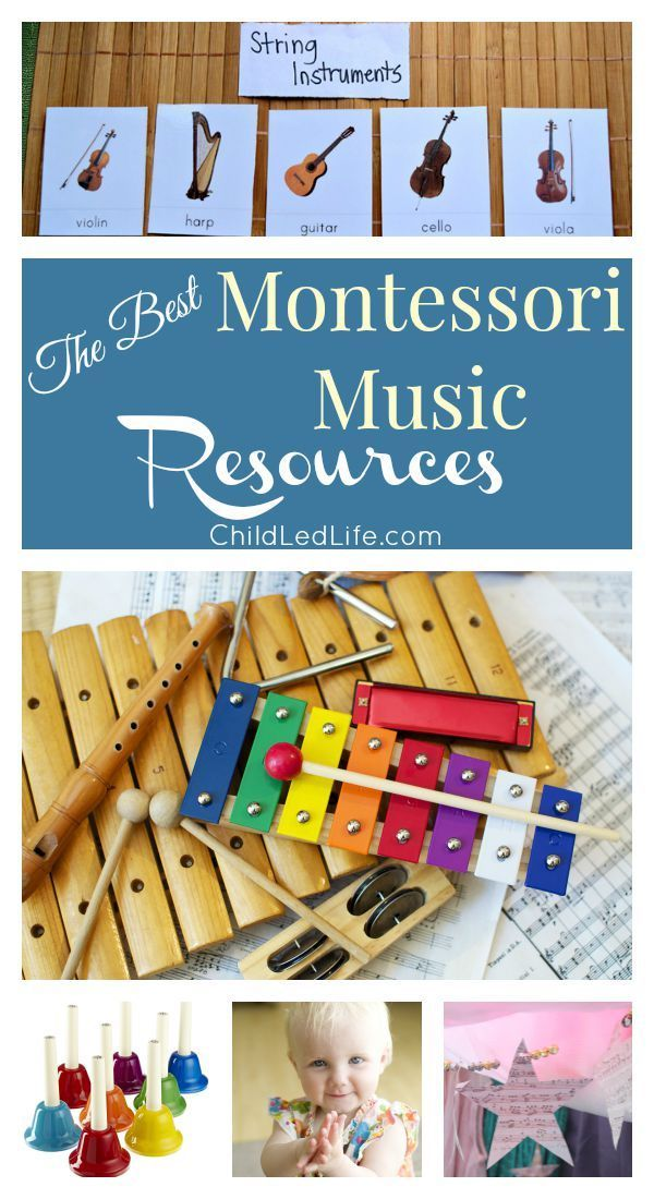Music has a special place in my heart. Here are some great Montessori music resources on http://ChildLedLife.com