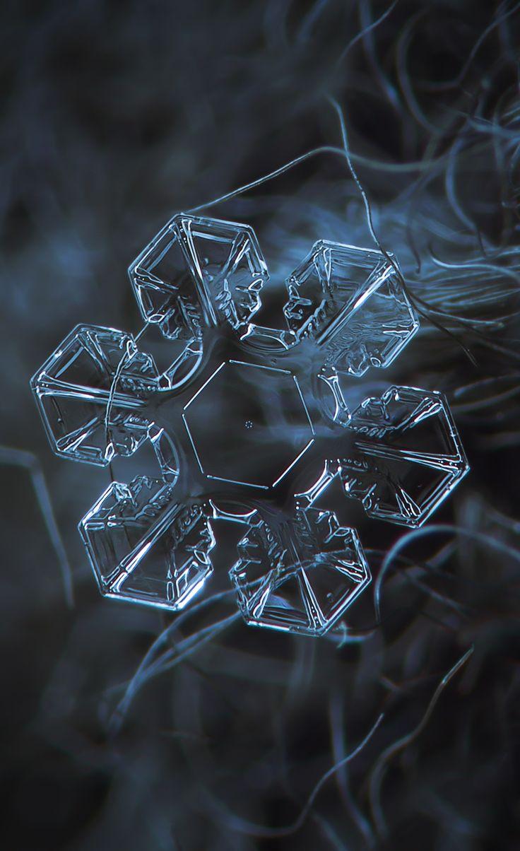 Snow crystal Enchanting close up of a