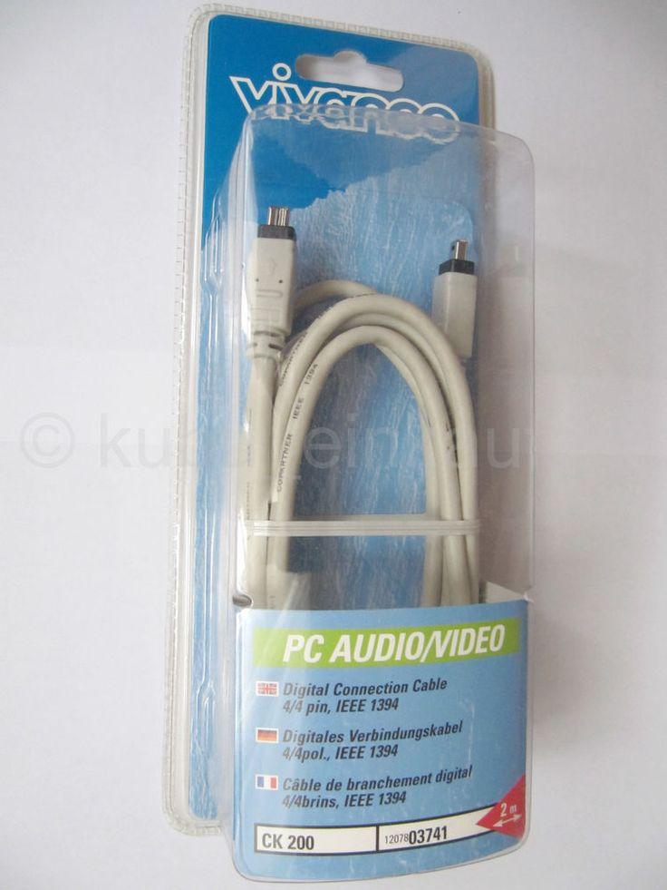 IEEE 1394 FireWire Kabel 2 x 4pol. Stecker, 2,0m Neu