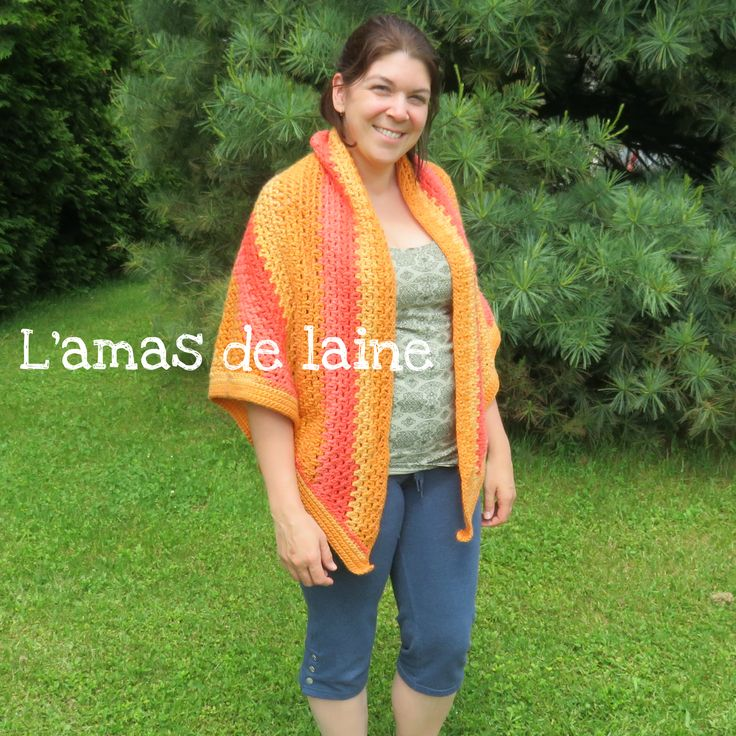 CROCHET PATTERN The Watercolour Shawl. Fun, easy, comfortable and beautiful. Pattern available in english and in french.