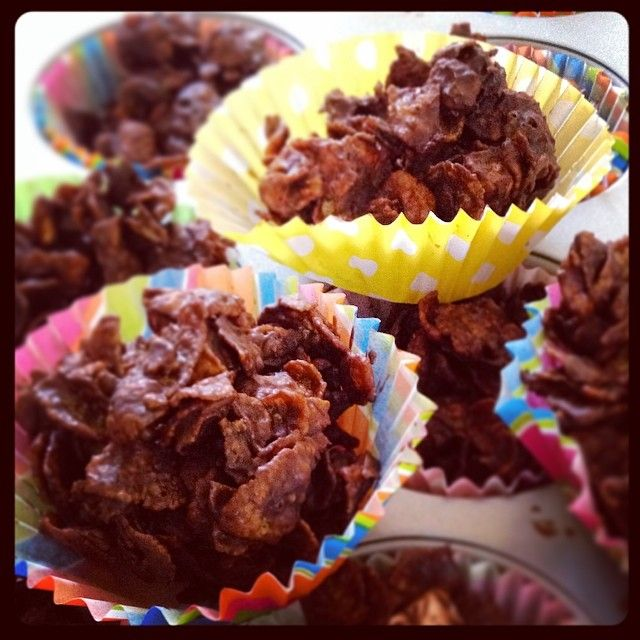 Dark Chocolate Cornflake cakes