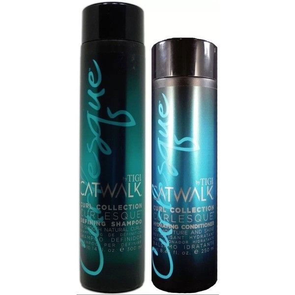 Tigi Catwalk Curlesque Defining Shampoo and Hydrating Conditioner Duo ($22) ❤ liked on Polyvore featuring beauty products, haircare, hair shampoo, tigi, tigi haircare and tigi hair care