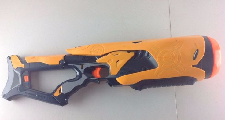 Nerf Swarmfire 20 Dart Tag Gun w/ Shoulder Attachment Battery Operated  #NERF