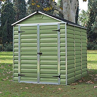 6x8 Green Plastic Skylight Garden Apex Shed - UV Treated & Double Doors - By Waltons: Amazon.co.uk: Garden & Outdoors