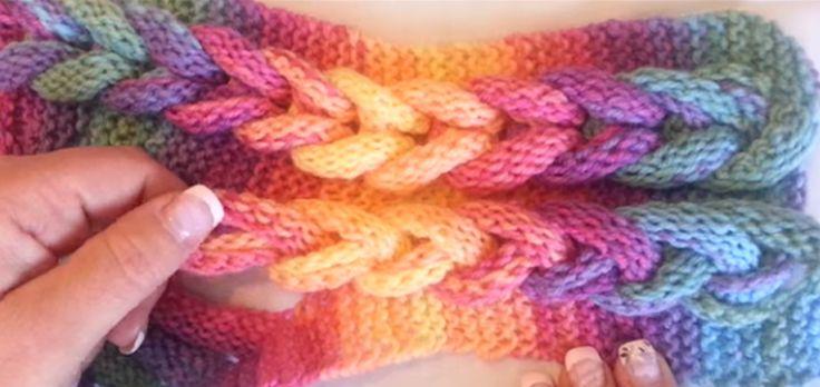 Ein schicker Rapunzelschal darf im Winter nicht im Kleiderschrank fehlen. Wir zeigen Dir, wie Du einen tolle Rapunzelschal ganz einfach stricken kannst.