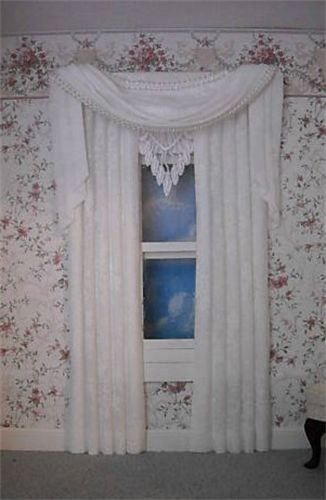 Wootens Miniatures Handcrafted Dollhouse Miniatures - Dollhouse Curtains - Chapmansboro, TN