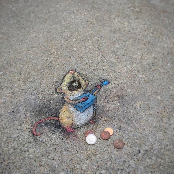 Chalk Characters on the Streets of Ann Arbor by David Zinn #artpeople www.artpeoplegallery.com Via thisiscolossal