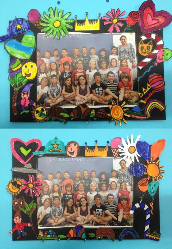 MARC DE FOTO Tapa d'àlbum - Material: paper, cartolina, colors, tisores, cola, fotografia - Nivell: CI 2014/15 Escola Pia Balmes