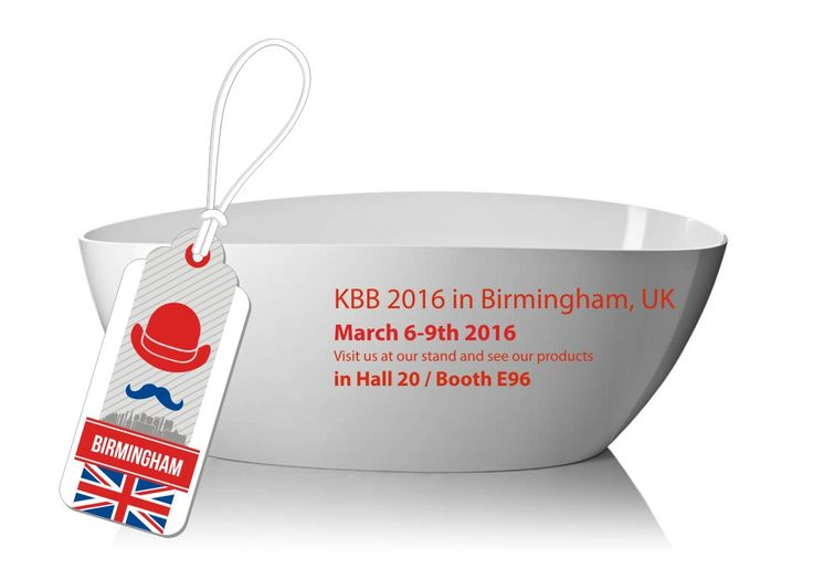 Do you remember that in a few days we meet in Birmingham? The most important industry event of the year in the UK is a great opportunity for us to show our collection of products. See you in Hall 20 / Booth E96!  More information on the official event page: http://www.kbb.co.uk/ and https://www.facebook.com/kbbnewsextra/