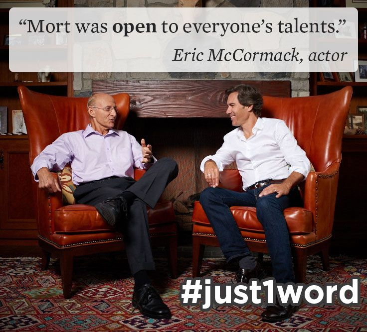 """Happy World Teachers' Day! #Actor #EricMcCormack recalls the role his high school drama teacher played in giving him the grit to step into the spotlight and become a star. """"There was no right way to do things with Mort. There was no wrong way either. He was open to everyone's talents."""" #just1word #worldteachersday #Canadian #WillTruman #WillAndGrace #Toronto"""