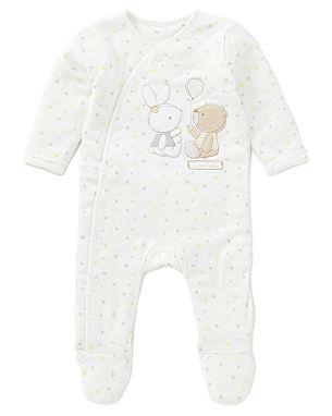 Max & Millie Star Print Sleepsuit